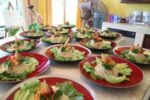 Vegetarian hotel food