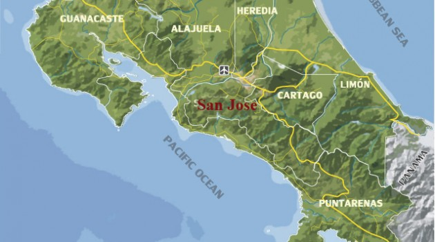 Top 5 Cantons of San Jose Province