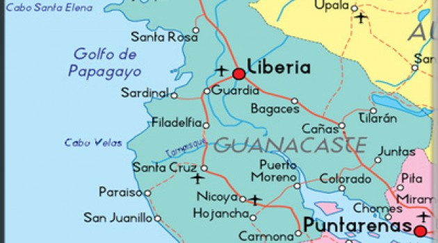 Top 5 Cantons of Guanacaste Province