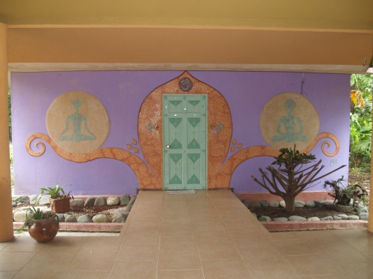 Well decorated place for practicing Yoga
