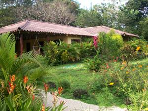 a beautiful cabina midst village of Cabuya