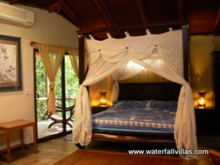 exclusive room with king size bed, screened window and AC