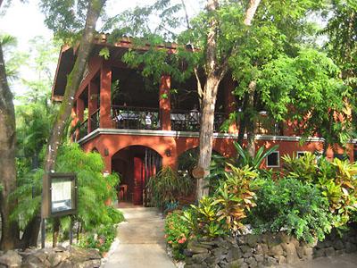 Beautiful red building of Cantarana