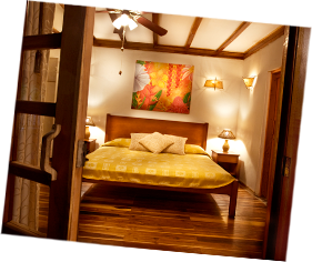 queen size bed in a beatifully decorated room