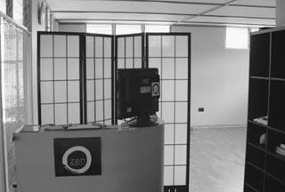 zen yoga studio front desk