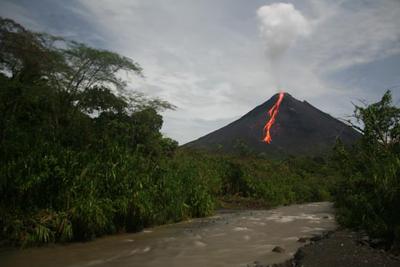 an active volcano of La Fortuna de San Carlos