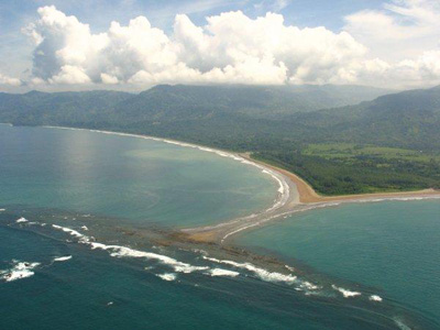 breathtaking view of a sea beach at Marino Ballena National Park