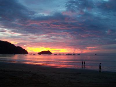 beautiful sea beach in Playa del Coco