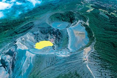 breath-taking colorful view of irazu volcano