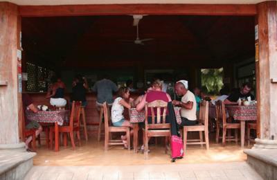 People having breakfast at  Rosi;s Soda Tica