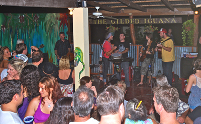 Music session at The Gilded Iguana