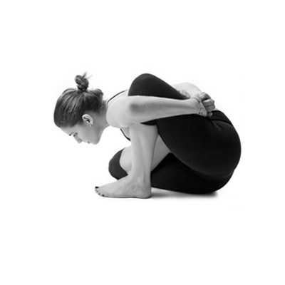 woman doing hatha yoga
