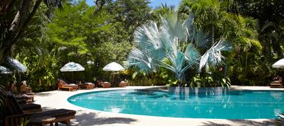 beautiful swimming pool at harmony hotel