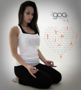 woman in a white top meditating