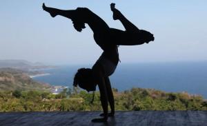 Yoga on Anamaya's spectacular deck