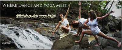 Women practicing outdoor yoga