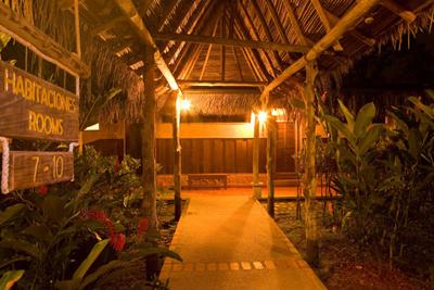Sueno Azul bamboo roof