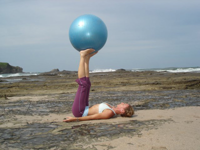 pilates with the ball