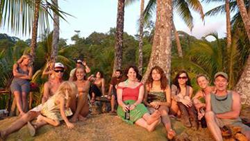 Group of people enjoying free time at Yoga Farm