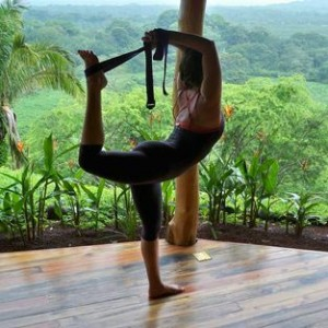 Woman practicing Yoga at Costa-Rica-Yoga-Spa
