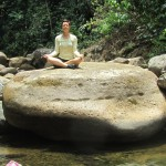 woman practicing meditation